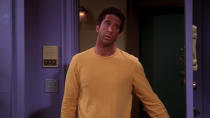 <p> Sometimes you just want a bit of slapstick and body comedy, which this episode delivers in spades. Ross gets envious of Monica&#x2019;s fake tan and decides to get one himself, but messes up the application, so ends up looking hilariously mahogany. There&#x2019;s a bit of heart here too, as Rachel and Joey wrestle with their burgeoning physical relationship, but it&#x2019;s mostly about laughing at Ross because of his silly tan. Sometimes that&#x2019;s just what you need. </p> <p> <strong>Best line:</strong>&#xA0;Ross: I went to that tanning place your wife suggested.<br> Chandler: Was that place the sun? </p>
