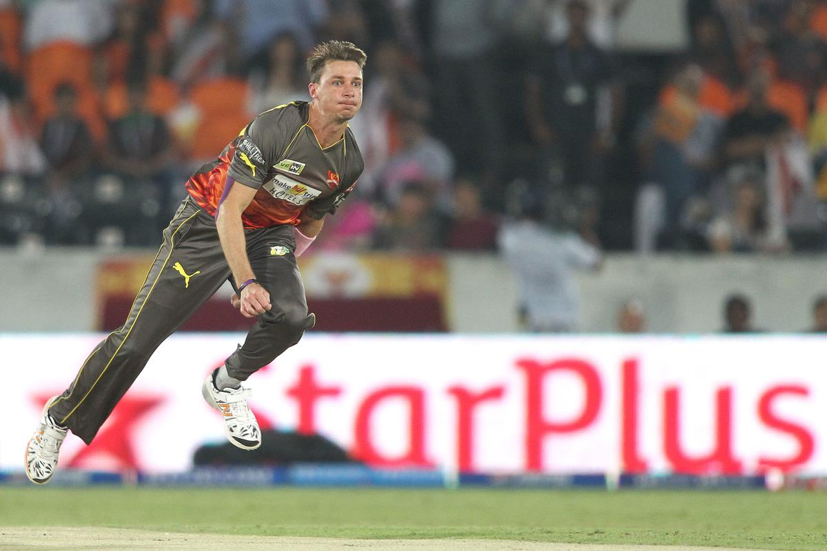 Dale Steyn of Sunrisers Hyderabad sends down a delivery during match 68 of the Pepsi Indian Premier League between The Sunrisers Hyderabad and The Rajasthan Royals held at the Rajiv Gandhi International Stadium, Hyderabad  on the 17th May 2013..Photo by Shaun Roy-IPL-SPORTZPICS ..Use of this image is subject to the terms and conditions as outlined by the BCCI. These terms can be found by following this link:..https://ec.yimg.com/ec?url=http%3a%2f%2fwww.sportzpics.co.za%2fimage%2fI0000SoRagM2cIEc&t=1503202663&sig=VpQaD7ld.qRzgJxqkecVmQ--~D