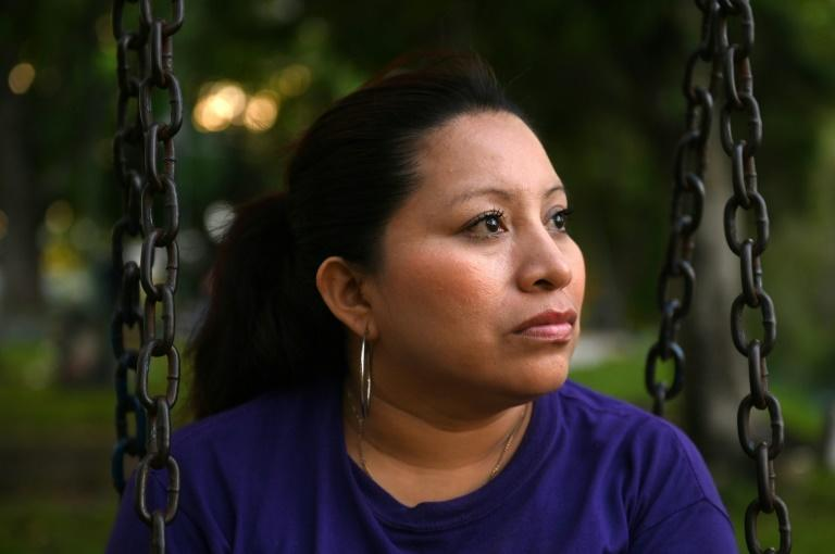 Teodora Vasquez is photographed during an interview with AFP in San Salvador on September 12, 2019