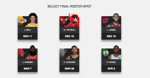 One of these things is not like the others … (Screenshot via NBA.com/Bucks)
