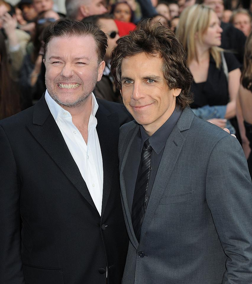 "<a href=""http://movies.yahoo.com/movie/contributor/1808438269"">Ricky Gervais</a> and <a href=""http://movies.yahoo.com/movie/contributor/1800019193"">Ben Stiller</a> at the London premiere of <a href=""http://movies.yahoo.com/movie/1810028001/info"">Night at the Museum: Battle of the Smithsonian</a> - 05/12/2009"