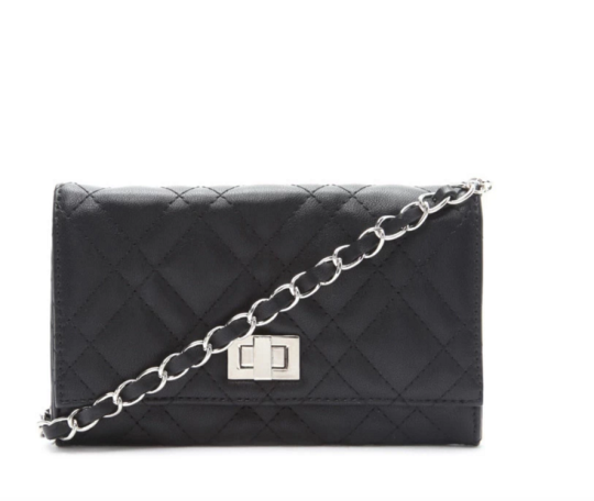 """<p>Forever 21 Quilted Faux Leather Crossbody, $15, <a href=""""http://www.forever21.com/Product/Product.aspx?BR=f21&Category=acc_handbags-crossbody-bag&ProductID=1000168674&VariantID="""" rel=""""nofollow noopener"""" target=""""_blank"""" data-ylk=""""slk:Forever 21."""" class=""""link rapid-noclick-resp"""">Forever 21.</a><br></p>"""