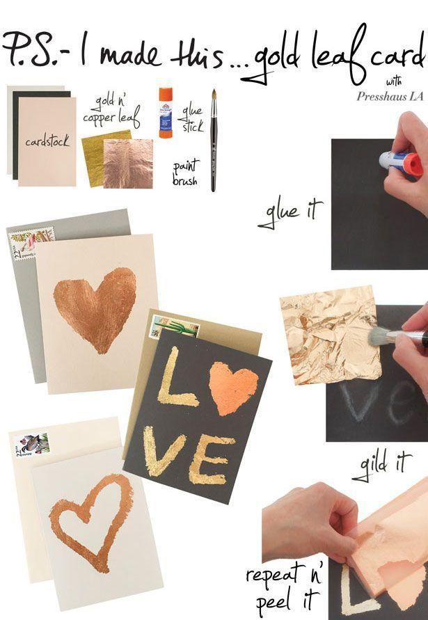 """<p>Give a little sparkle to the special someone who adds sparkle to your life on the regular.</p><p><strong>Get the tutorial at </strong><strong><a href=""""http://www.psimadethis.com/diy/lifestyle/gold-leaf-card"""" rel=""""nofollow noopener"""" target=""""_blank"""" data-ylk=""""slk:P.S. I Made This"""" class=""""link rapid-noclick-resp""""> P.S. I Made This</a>.</strong></p>"""