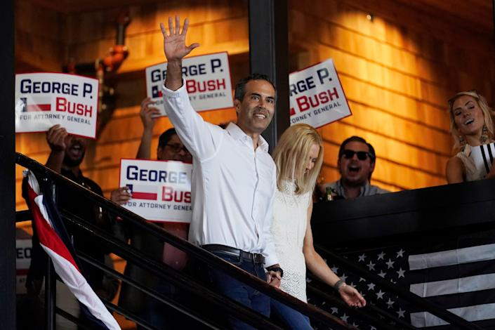 George P. Bush at his campaign announcement last week. (Copyright 2021 The Associated Press. All rights reserved.)