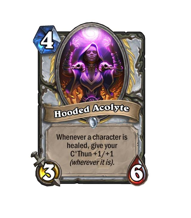 <p>It's seeming more and more like Priests will be C'Thun's class of choice. Just think about how big C'Thun will get after a Circle of Healing gets dropped. </p>