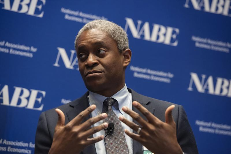 Fed's Bostic Says an Interest-Rate Hike and a Cut Are Equally Likely