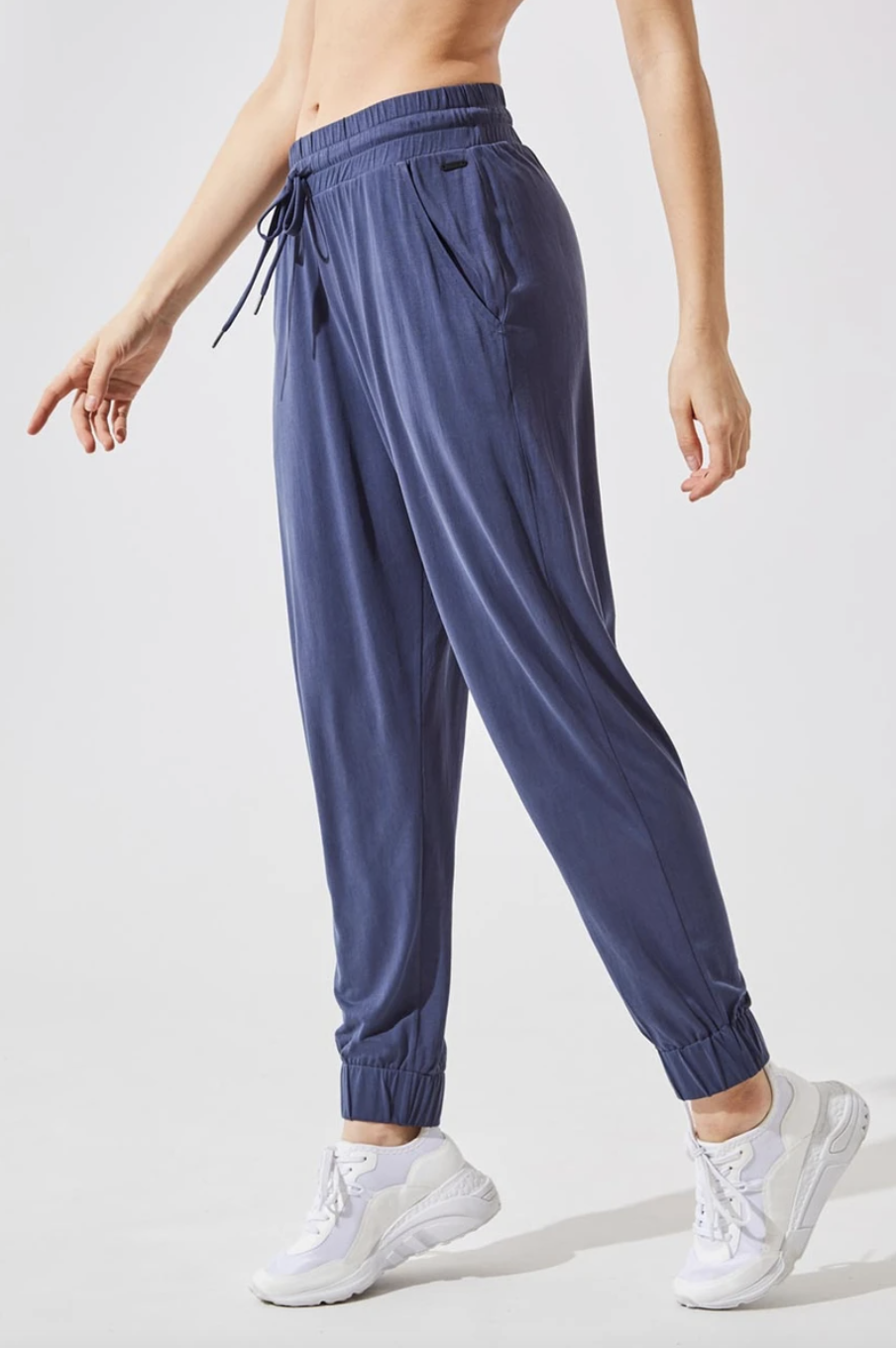 Stride On Natural Modal Relaxed Pant in Teal (Photo via MPG)