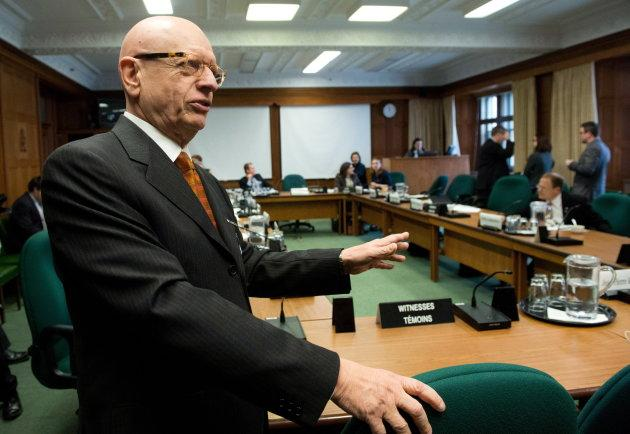 Jean-Pierre Kingsley appears at a Commons house affairs committee on Parliament Hill in Ottawa on Nov. 29, 2012.