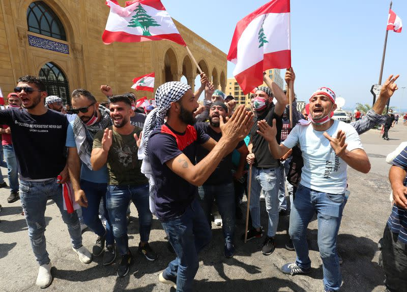 Protest against the government performance and worsening economic conditions, in Beirut