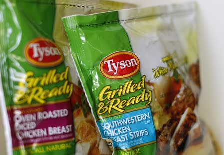 FILE PHOTO: Tyson food meat products are shown in this photo illustration in Encinitas