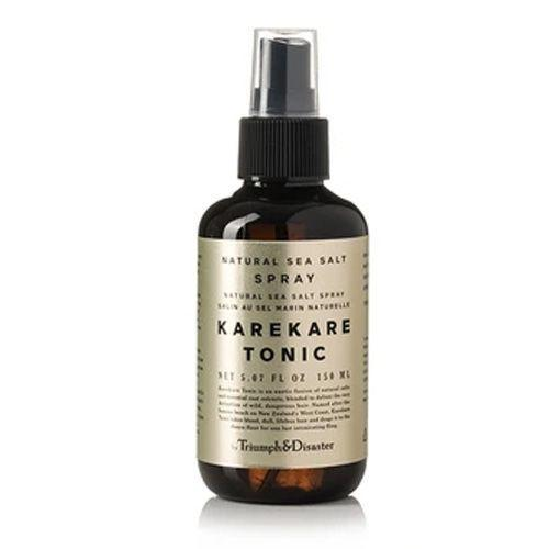 "<p><a class=""link rapid-noclick-resp"" href=""https://www.triumphanddisasteruk.com/collections/hair/products/karekare-hair-tonic"" rel=""nofollow noopener"" target=""_blank"" data-ylk=""slk:SHOP"">SHOP</a></p><p>Karekare Hair Tonic is Triumph & Disaster's all natural sea salt spray and takes it name after the famous beach on New Zealand's West Coast. The key ingredients include: epsom Salt, alpine willow herb and sea beet. All working together to help achieve the perfect surfer's mop. </p><p>Karekare Hari tonic, 150ml, £19.95, <a href=""https://www.triumphanddisasteruk.com/collections/hair/products/karekare-hair-tonic"" rel=""nofollow noopener"" target=""_blank"" data-ylk=""slk:triumphanddisasteruk.com"" class=""link rapid-noclick-resp"">triumphanddisasteruk.com</a></p>"