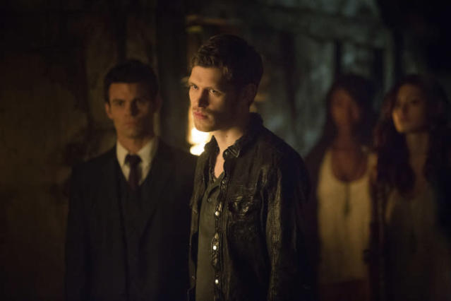 """The Originals"" -- Daniel Gillies as Elijah, Joseph Morgan as Klaus, and Phoebe Tonkin as Hayley"
