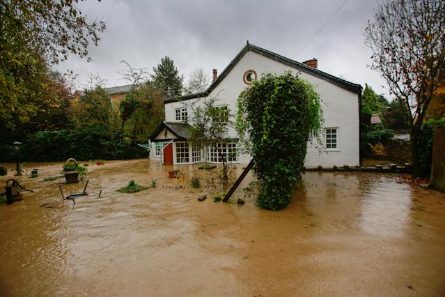 An amber alert for rain and flooding is in place in Yorkshire until Friday (SWNS)