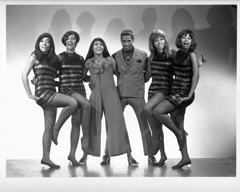 <p>Tina with Ike and their backup dancers, the Ikettes.</p>