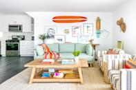 """This three-bedroom apartment is perfect for a family beach getaway—and not just because it's steps from the surfer's paradise of <a href=""""https://www.cntraveler.com/galleries/2016-07-06/the-11-best-beaches-in-california?mbid=synd_yahoo_rss"""" rel=""""nofollow noopener"""" target=""""_blank"""" data-ylk=""""slk:Huntington Beach"""" class=""""link rapid-noclick-resp"""">Huntington Beach</a> and a 10-minute drive from Balboa Pier and the ferry to nearby <a href=""""https://www.cntraveler.com/story/catalina-island-is-one-of-los-angeles-best-kept-secrets?mbid=synd_yahoo_rss"""" rel=""""nofollow noopener"""" target=""""_blank"""" data-ylk=""""slk:Catalina Island"""" class=""""link rapid-noclick-resp"""">Catalina Island</a>. Inside, there is a king-sized master suite, a queen bedroom, and a bunk room for the kids with two fulls, plus an outdoor patio for views of the sunset over the Pacific. And, if you're bringing a car, know you won't have to fight beachgoers for a parking spot, since you'll have access to one spot in the garage. If three bedrooms isn't enough for your whole crew, consider combining this three-bedroom with the duplex's other unit, which <a href=""""https://cna.st/affiliate-link/BRb9NR81AVJe4rTrt4Dc8HBcX8bneMbNDjfuXTdJ33Ex3oyatYfYLvbhYRH8rbLjtX6deCh1EcTpx8P8fKqwwoANSS864xef5GxKDrfwg4oSM3SFCToSigpbz8LbVSUZzmWw5g7vc9oKmkvCniD4H1BjXp4oTL3qpHJq7rxVBrkdNQxZphs3pjNBVfykDf2Urm9QJ1PTDAgxANoZwsRxwLQppw4XeKVC?cid=60b67f778c93664c50d69023"""" rel=""""nofollow noopener"""" target=""""_blank"""" data-ylk=""""slk:can be booked together"""" class=""""link rapid-noclick-resp"""">can be booked together</a> to sleep up to 15 guests. (<em>From 94,000 points per night)</em> $566, Marriott. <a href=""""https://homes-and-villas.marriott.com/en/properties/78076336-newport-beach-modern-three-bedroom-coastal-duplex;-steps-to-the-beach"""" rel=""""nofollow noopener"""" target=""""_blank"""" data-ylk=""""slk:Get it now!"""" class=""""link rapid-noclick-resp"""">Get it now!</a>"""