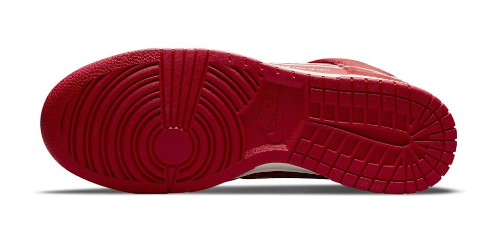 """The outsole of the Nike Dunk High """"First Use."""" - Credit: Courtesy of Nike"""