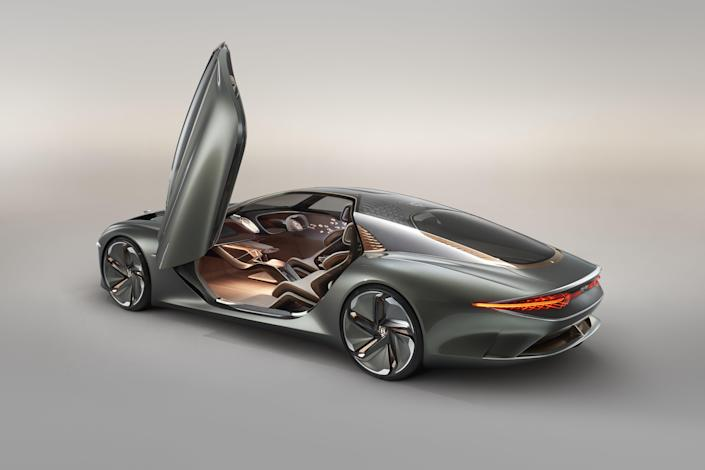 Bentley's beautifully fantastic vision for what driving—and autonomous driving—will look like in 2035 is expressed in this honking grand touring coupe. With more than 1,100 lb.-ft. of thrust powering it, it should hustle from zero to 60 mph in 2.5 seconds. This is a concept car, so price is irrelevant.