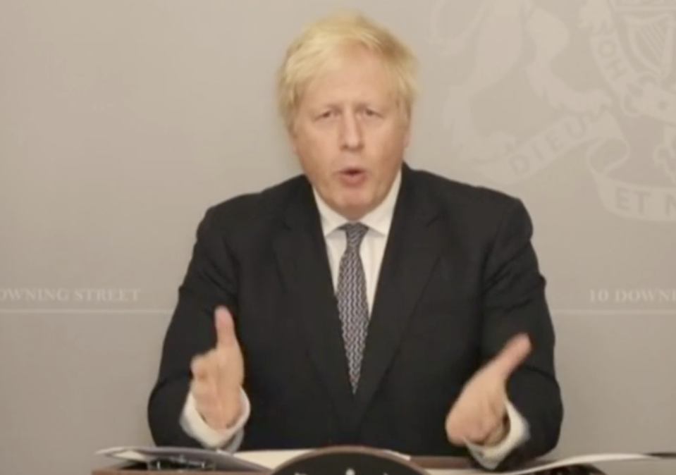 Boris Johnson: 'We don't want to allow the virus to flare up again, forcing us all back into lockdown in January.' (Parliamentlive.tv)