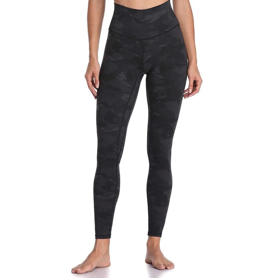 """<p><strong>Reviews & rating:</strong> 26,241 reviews, 4.7 out of 5 stars</p> <p><strong>Key selling points:</strong> Fans of Colorfulkoala confirm that this full-length patterned pair lives up to the brand's hype. They're soft, breathable, and squat-proof and feature a gentle compression waistband for an ultra-comfortable fit. These are also compared to Lululemon, Fabletics, Nike, and Adidas, but ring in at just $25. </p> <p><strong>What customers say:</strong> """"I am absolutely IN LOVE with these leggings. I got mine in the red pattern and I could not be more happy about them. Fit- I'm 5'2 around 125 pounds and I got a size small and they fit perfectly. I carry most of my weight in my bottom half and these leggings hug my curves soo well. They do a great job of being form-fitting without being too compressive. They are very high-waisted but not in an unflattering way, very flattering and looks good on my small frame which isn't common for high wasted leggings in my opinion. Also, the seam on the back accentuates your butt beautifully. Material: This is the perfect summer workout material. It's that silky, soft, smooth material that upon first glance you'd think was see through but is very opaque. It's breathable and moisture-wicking. No awkward sweat marks! Highly highly recommend to wear in the summer because of how comfortable the leggings are in heat. I put these to the test on a warm summer day and did a leg day workout, and they definitely stood up. In conclusion, these are some of the best leggings I've ever had and for the price, hard to beat. I can't stop wearing them. PLEASE PLEASE, come out in more patterns and solid colors in this specific material. Personally, I'd love to see a cheetah print and snake print :)"""" —<a href=""""https://amzn.to/3tA0pMp"""" rel=""""nofollow noopener"""" target=""""_blank"""" data-ylk=""""slk:Wambui"""" class=""""link rapid-noclick-resp""""><em>Wambui</em></a><em>, reviewer on Amazon</em></p> $23, Amazon. <a href=""""https://www.amazon.com/Colorfulkoala-Waiste"""