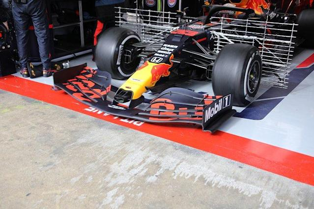 """Red Bull Racing RB16 front wing <span class=""""copyright"""">Giorgio Piola</span>"""