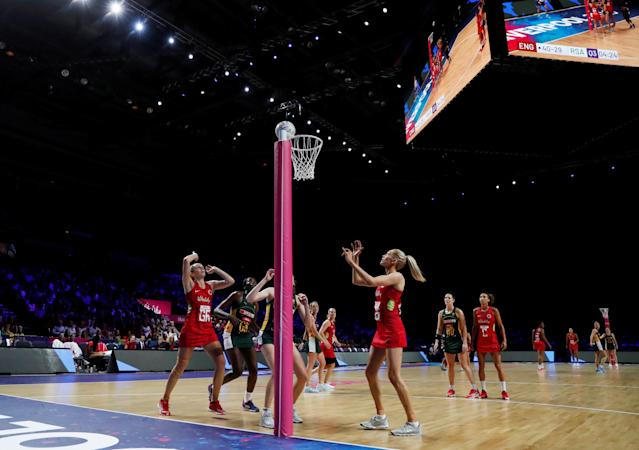England were beaten 70-66 by Jamaica at the Vitality Netball Nations Cup REUTERS/Lee Smith