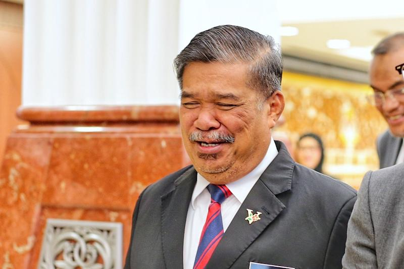 Defence Minister Mohamad Sabu is pictured at the Parliament lobby November 21,2019. — Picture by Ahmad Zamzahuri