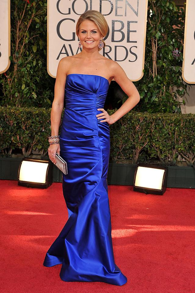 "Wilde's costar, Jennifer Morrison, also worked the red carpet it in a beautiful blue gown. Steve Granitz/<a href=""http://www.wireimage.com"" target=""new"">WireImage.com</a> - January 11, 2009"