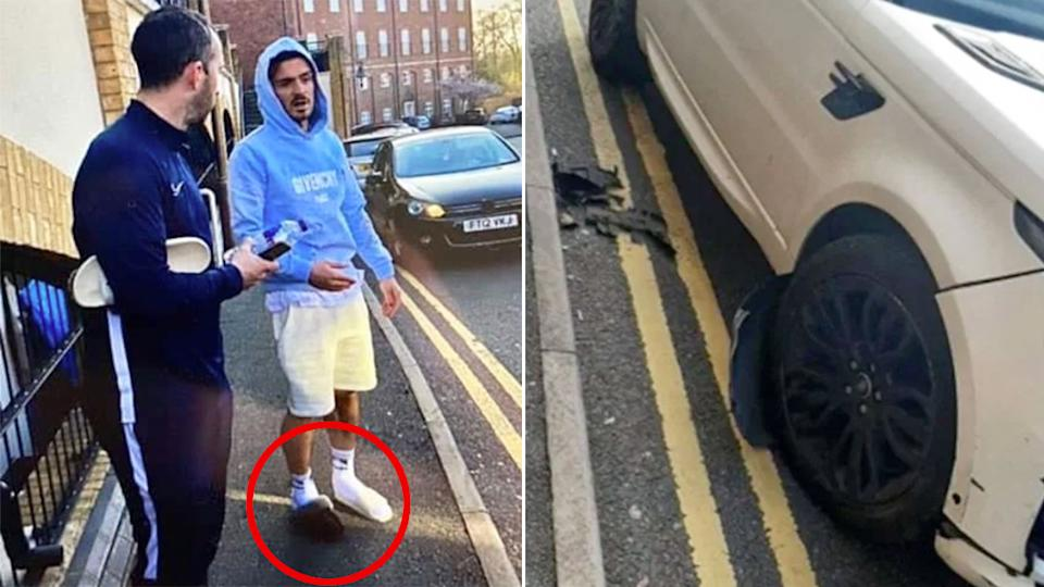 Seen here, Jack Grealish found himself at the centre of a bizarre car crash after breaking quarantine rules.