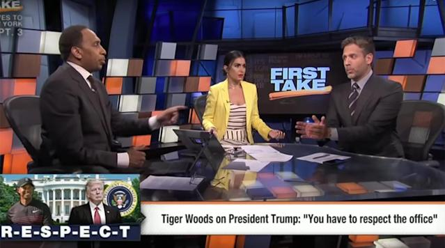 """1. Last week, Traina Thoughts highlighted the shortsighted comments by new ESPN President Jimmy Pitaro, who likes to say, """"it's not our job to cover politics"""" in all his interviews."""