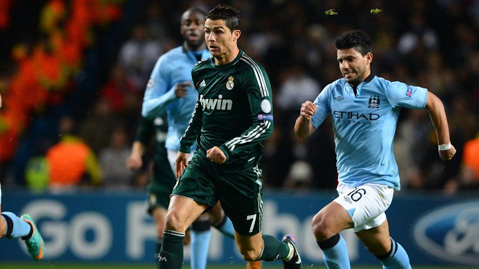 Aguero e Ronaldo in un Manchester City-Real Madrid | ANDREW YATES/Getty Images