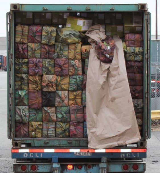 PHOTO: Federal agents in and around New York seized a shipment of cocaine worth approximately $77 million at the port of Port of New York/Newark on Feb. 28, 2019. (U.S. Customs and Border Protection)