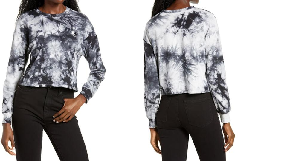 All In Favor Tie Dye Appliqué Crop Pullover - Nordstrom. $14 (originally $35)