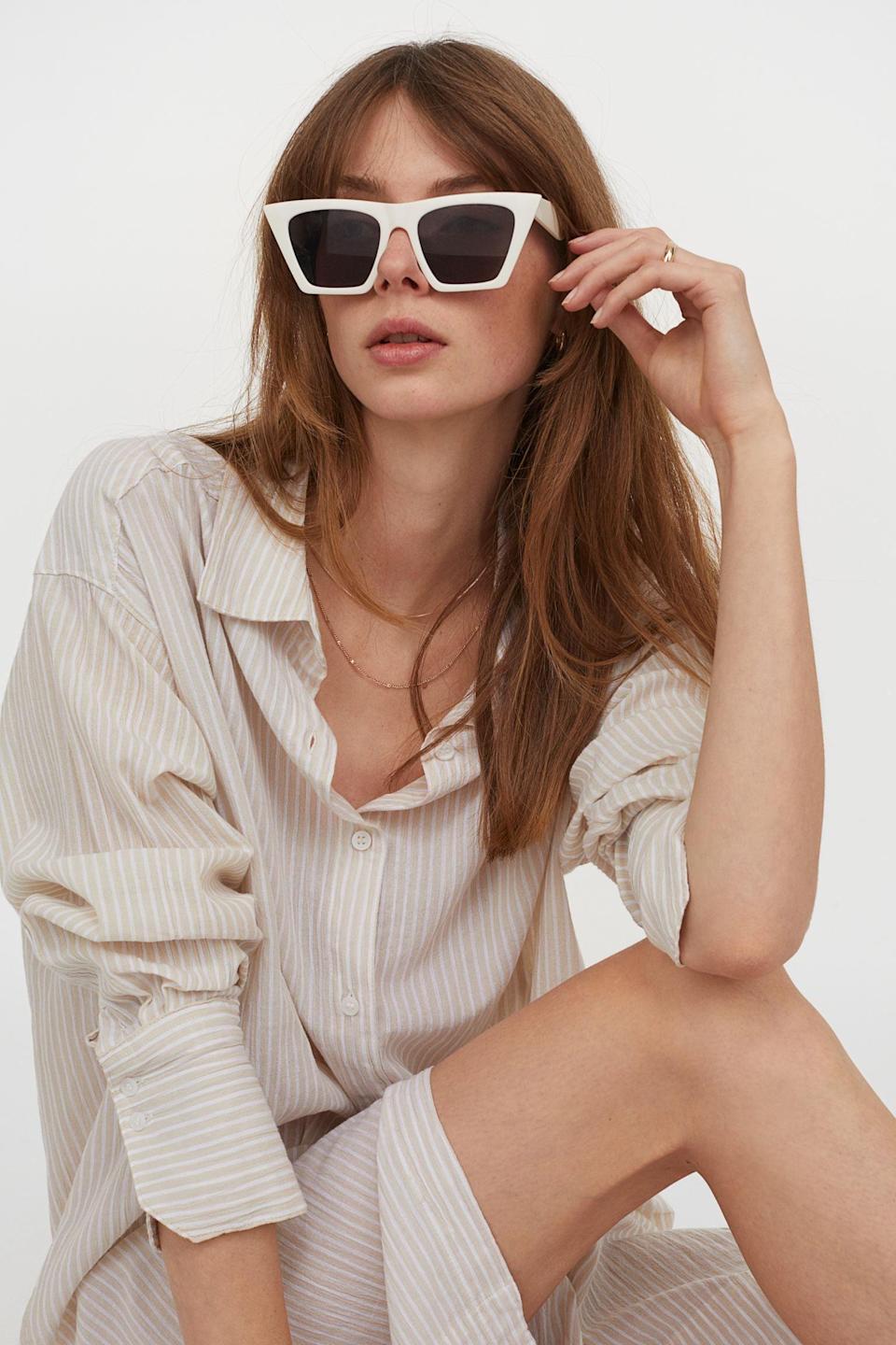 <p>Wear this <span>Cotton Shirt Dress</span> ($35) with some cool sunnies and comfortable slides, and you're ready for the next beach day.</p>