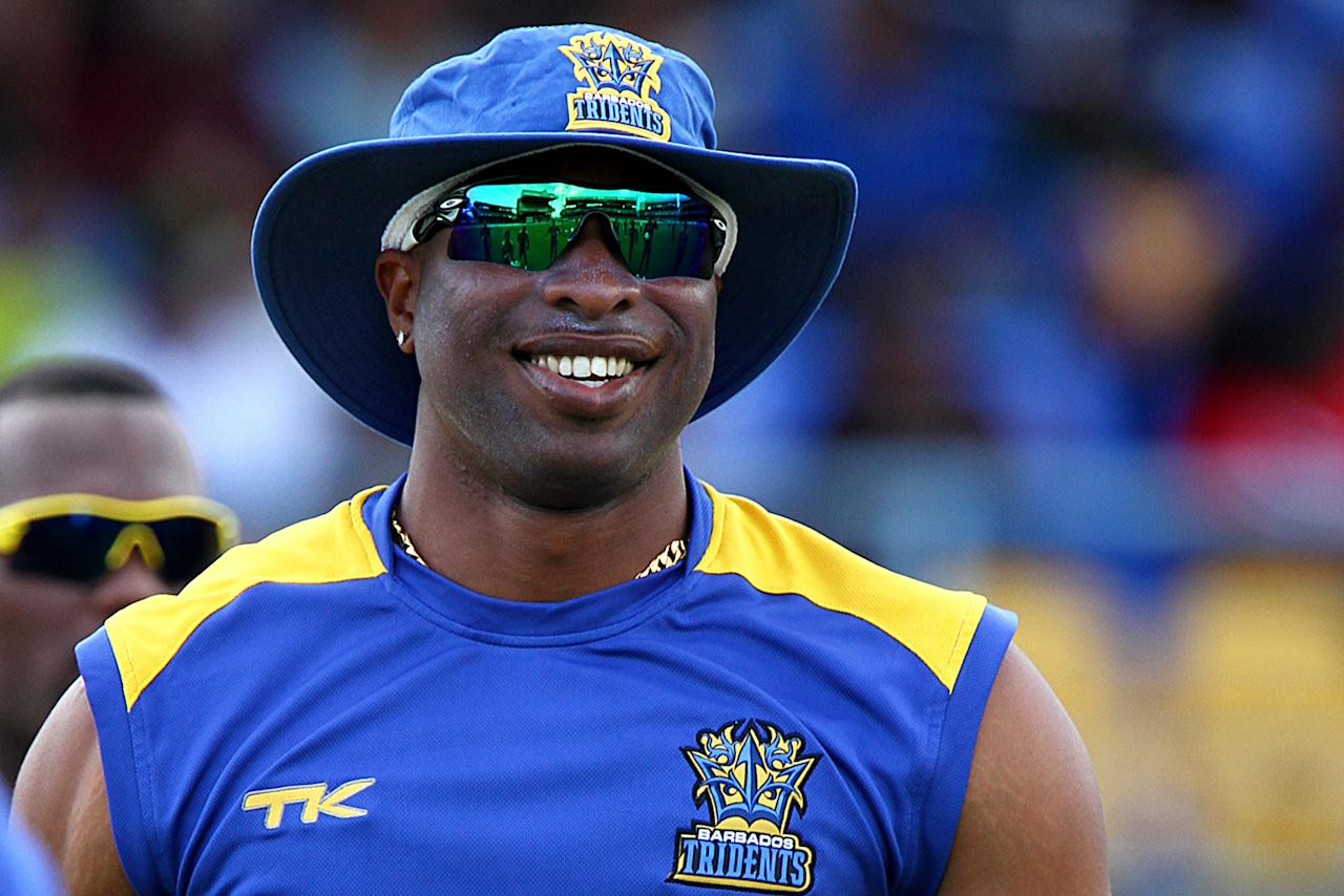 PORT OF SPAIN, TRINIDAD AND TOBAGO - AUGUST 11: Barbados Tridents captain Kieron Pollard during the Thirteenth Match of the Cricket Caribbean Premier League between Barbados Tridents v Guyana Amazon Warriors at Queen's Park Oval on August 11, 2013 in Port of Spain, Trinidad and Tobago. (Photo by Ashley Allen/Getty Images Latin America for CPL)
