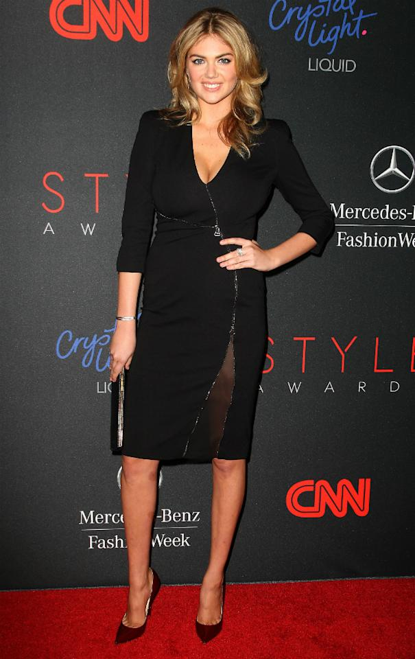 10th Annual Style Awards Kate Upton And Nicole Richie Keep It Monochrome On The Red Carpet