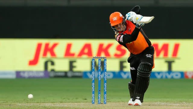 Jason Roy scored a free-flowing 60 off 42 balls to propel Sunrisers Hyderabad to a seven-wicket win over Rajasthan Royals. Photo by Saikat Das / Sportzpics for IPL