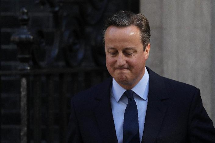David Cameron resigned as prime minister shortly after Britain's shock vote to leave the EU (AFP Photo/ADRIAN DENNIS)