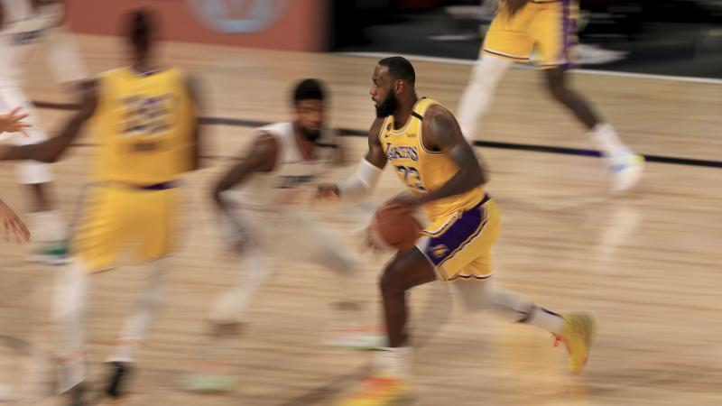 LeBron James and the LA Lakers back in the swing as the NBA returns