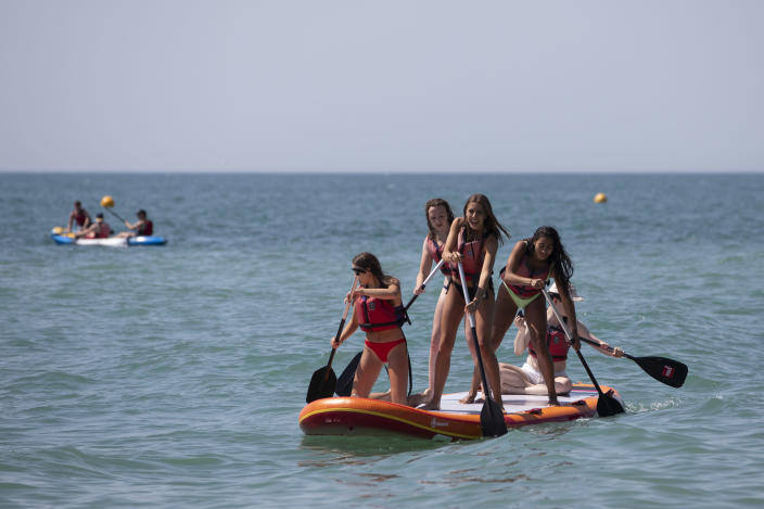The RNLI has warned people to be careful in the water as they flock to beaches to enjoy the heatwave. (Getty)