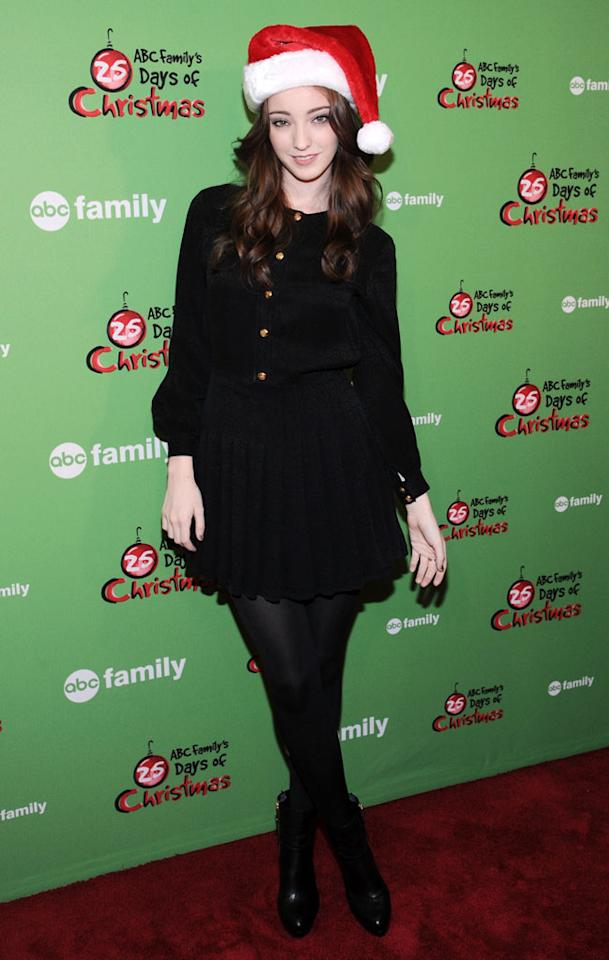 "Emma Dumont of ""Bunheads"" attends ABC Family's ""25 Days Of Christmas"" Winter Wonderland event at Rockefeller Center on December 2, 2012 in New York City."