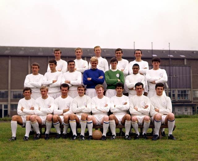 With the Leeds team of the Revie era (PA) Back row (left to right): Paul Madeley, Alan Peacock, Jack Charlton, Norman Hunter, Mike O'Grady. Middle row: Rodney Johnson, Rodney Belfitt, Willie Bell, Gary Sprake, David Harvey, Albert Johanneson, Eddie Gray. Front row: John Giles, Jimmy Greenhoff, Paul Reaney, Terry Cooper, Billy Bremner, Mike Bates, Terry Hibbett, Peter Lorimer