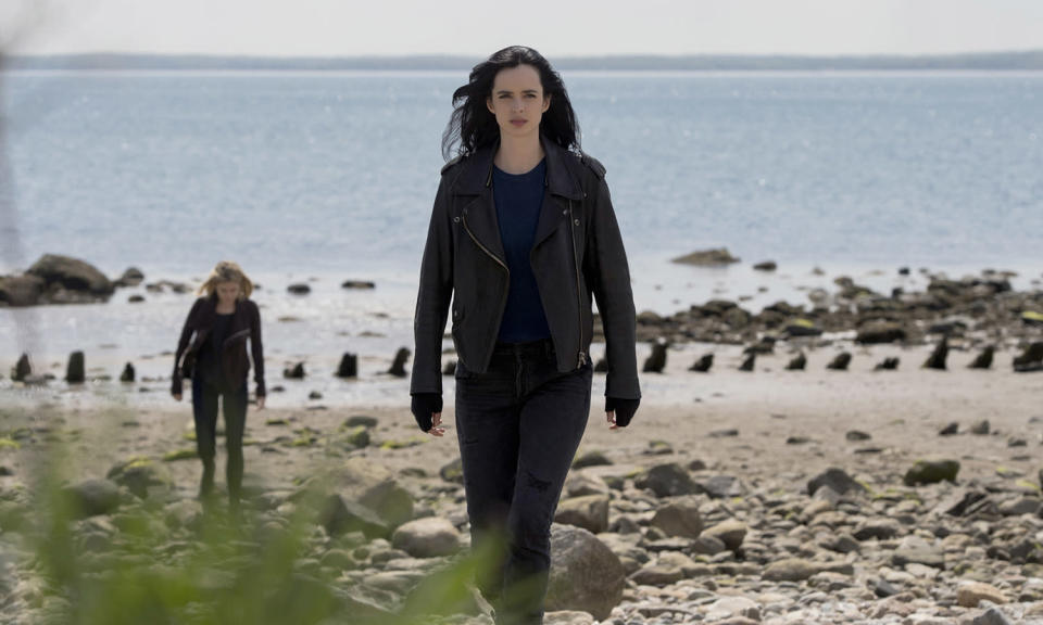 <p>Without doubt the best of the Marvel Netflix shows, Jessica's gobby vulnerability – combined with her physical strength – makes for a intriguingly complicated heroine. A second season is imminent, but the character's future looks bleak on Netflix, as it recently cancelled nearly all its other Marvel shows.<br>Photo: Netflix </p>