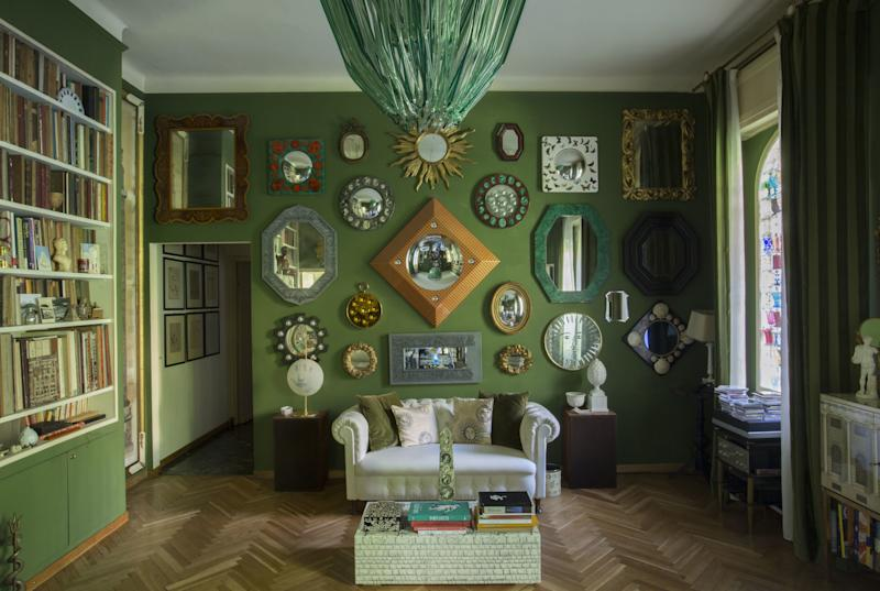 Casa Fornasetti in Milan is not only Barnaba Fornasetti's home but is also his design studio and office, as well as a comprehensive archive of the work of his father, the late Piero Fornasetti. Many of the rooms feature designs by both father and son, though the home is far from a traditional museum. In fact, Barnaba, a passionate music lover, whose favorite dance is the jive, is known to throw some of the liveliest soirées in Milan, including a highly coveted annual party during the Salone del Mobile. If you are lucky enough to be invited, don't expect to have a long conversation with him on the night, as he may well be busy playing DJ.