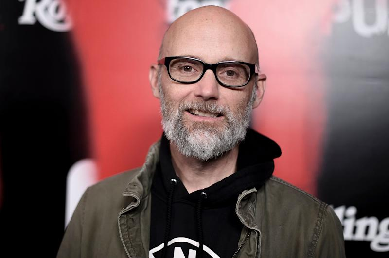 "Moby attends the LA premiere of ""Punk"" at SIR on Monday, March 4, 2019, in Los Angeles. (Photo by Richard Shotwell/Invision/AP)"