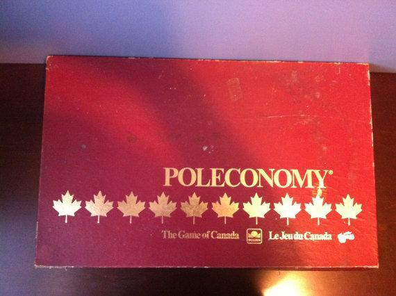 """<p>Poleconomy, a vintage bilingual board game, is similar to Monopoly and could be the board game for families to gather around during the holidays. The game pieces are brand new and still in the original packaging. <a href=""""http://etsy.me/2giNWaN"""" rel=""""nofollow noopener"""" target=""""_blank"""" data-ylk=""""slk:Etsy"""" class=""""link rapid-noclick-resp"""">Etsy</a> </p>"""