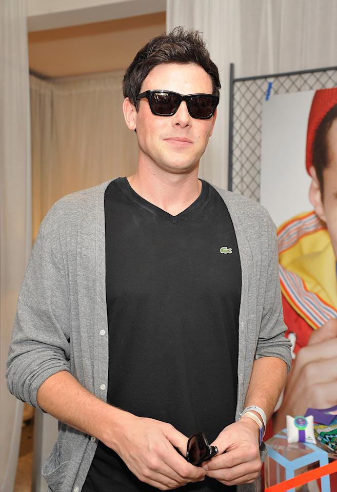 Corey Monteith attends the Lacoste pool party during the Coachella Music Festival in Thermal, California.