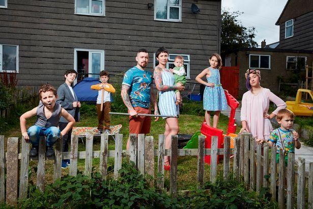 Gemma and Lewis with their seven children. Photo: Channel 4
