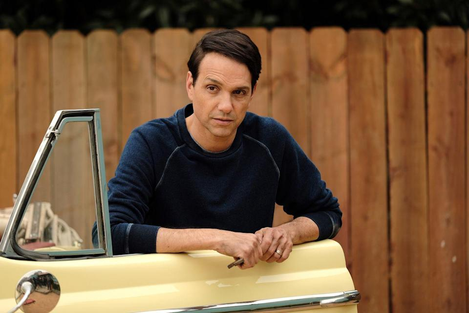 "<p>Everyone knows Ralph Macchio. Not only is he well known for his role as Daniel LaRusso in the <em>Karate Kid </em>movies, but he also played Johnny in <em>The Outsiders </em>and Bill Gambini in <em>My Cousin Vinny. </em></p><p>In recent years, Macchio also played a memorable role on another prestige drama, playing Officer Haddix in <a href=""https://www.menshealth.com/entertainment/a29210496/the-deuce-david-simon-interview/"" rel=""nofollow noopener"" target=""_blank"" data-ylk=""slk:David Simon"" class=""link rapid-noclick-resp"">David Simon</a>'s HBO series <em>The Deuce. </em> </p>"