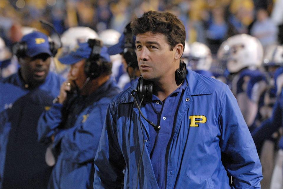 """<p>As Dillon Panthers head coach, Eric Taylor became one of the most important characters on the series, often-times pushing characters to achieve their best on and off the field. </p><p>Before coining the iconic phrase, """"clear eyes, full hearts, can't lose,"""" Chandler had starred in several movies made for television and appeared in major TV shows like <em><a href=""""https://www.insider.com/greys-anatomy-original-cast-then-and-now-2018-10"""" rel=""""nofollow noopener"""" target=""""_blank"""" data-ylk=""""slk:Grey's Anatomy"""" class=""""link rapid-noclick-resp"""">Grey's Anatomy</a>.</em></p>"""
