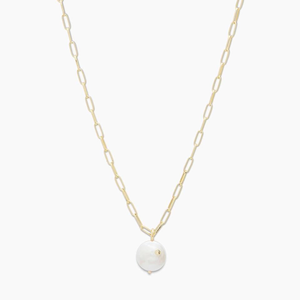 <p>This <span>Gorjana Reese Pearl Necklace</span> ($65) is the finishing touch to your fancy date night.</p>
